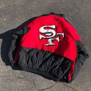 1990s Vintage 49ers Reebok Down Jacket